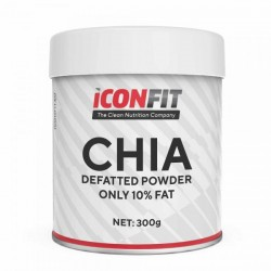 ICONFIT Chia Powder Reduced fat (300g) cardboard jar.м